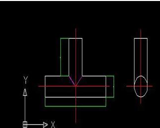 异径三通设计图